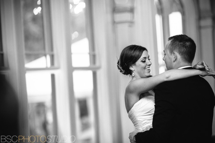 beautiful connecticut bride and groom first dance photo