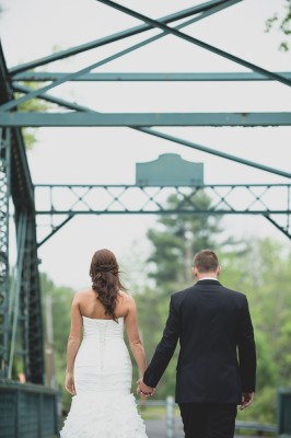 Old Drake Hill Flower Bridge Wedding Photography First Look