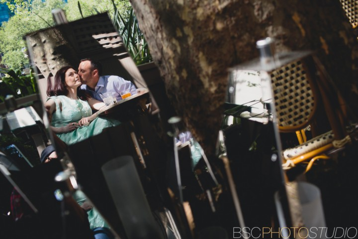 Creative NYC engagement photographer
