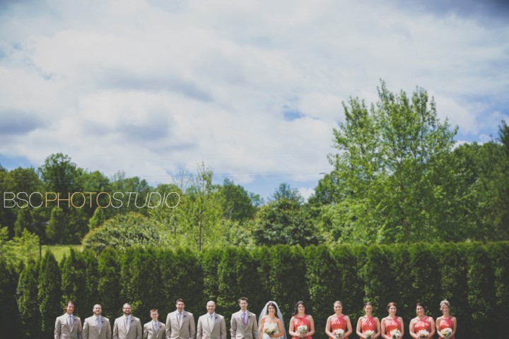 Unique bridal party group wedding photography CT Waterview