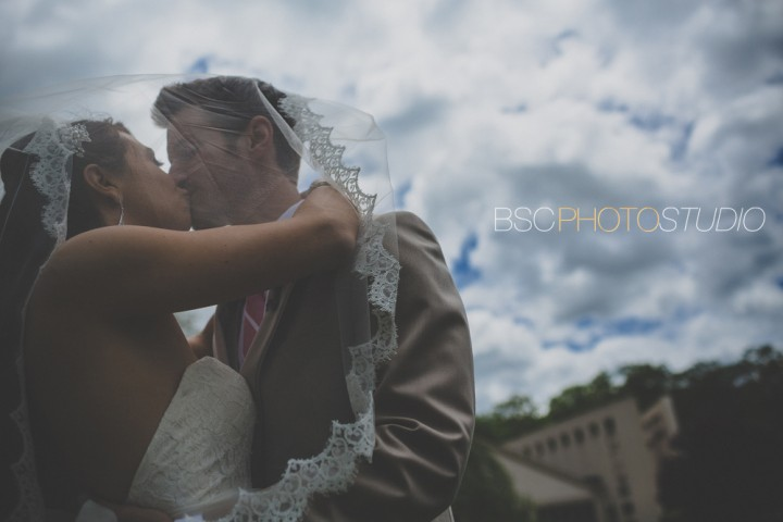 Romantic CT wedding photographer bride and groom clouds