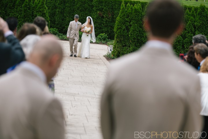 Creative beautiful Connecticut wedding ceremony at Waterview in Monroe