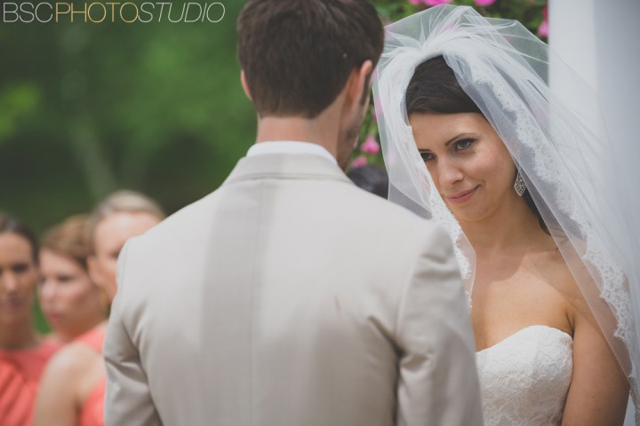 Cute bride face wedding ceremony CT wedding photographer