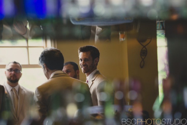 creative wedding photojournalism at Waterview Monroe CT groom