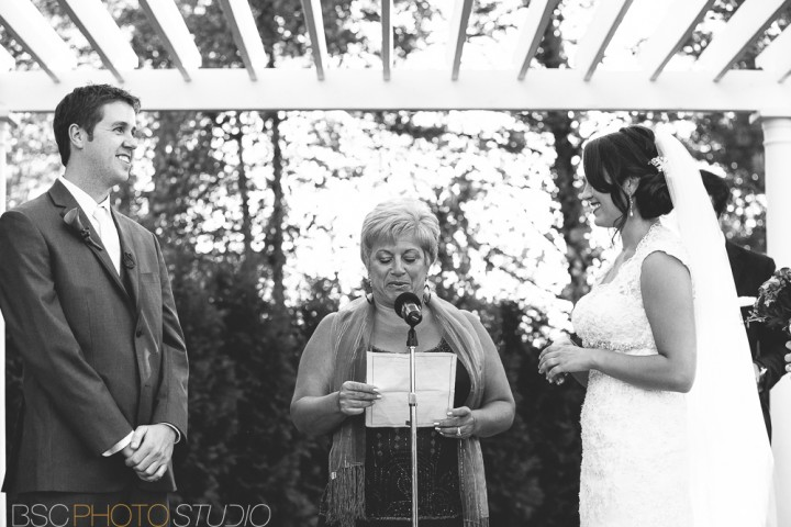 Beautiful Connecticut documentary wedding ceremony photography photojournalism at Farmington Gardens