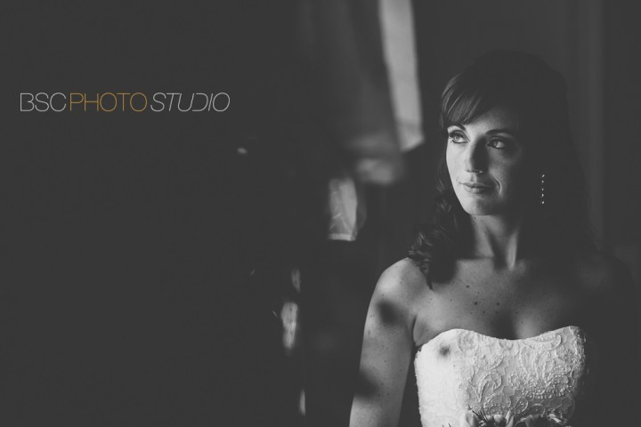 Beautiful bridal portrait lit by window light CT photography