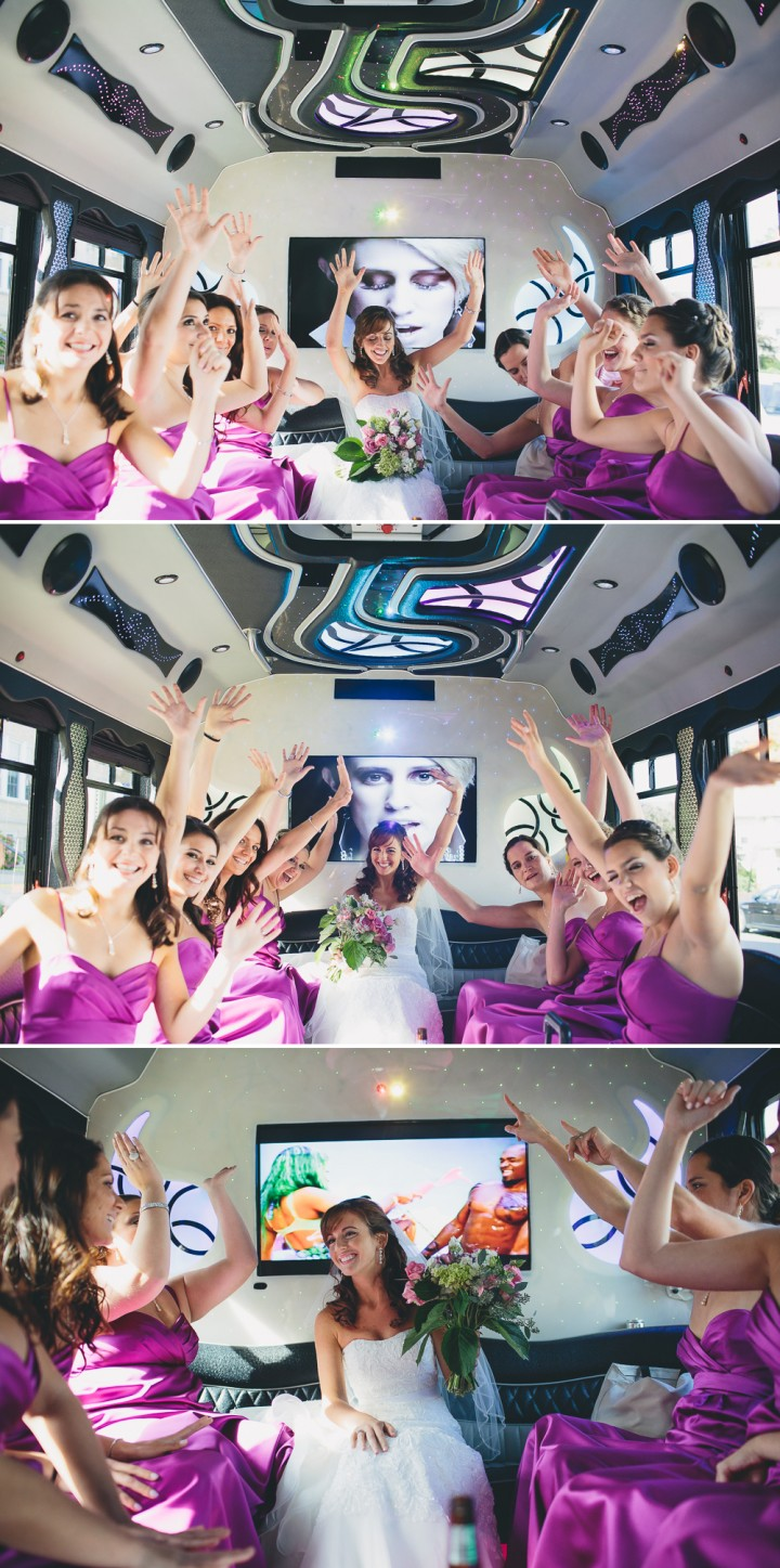 fun boutique CT wedding part bus photography