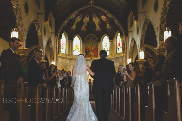 Creative and interesting view of CT wedding ceremony