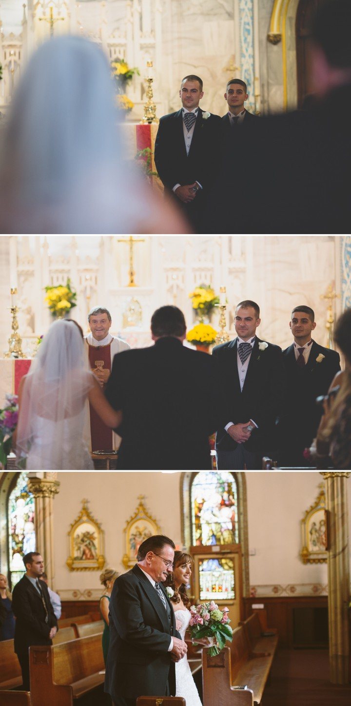 beautiful shelton Connecticut church wedding ceremony documentary photograper