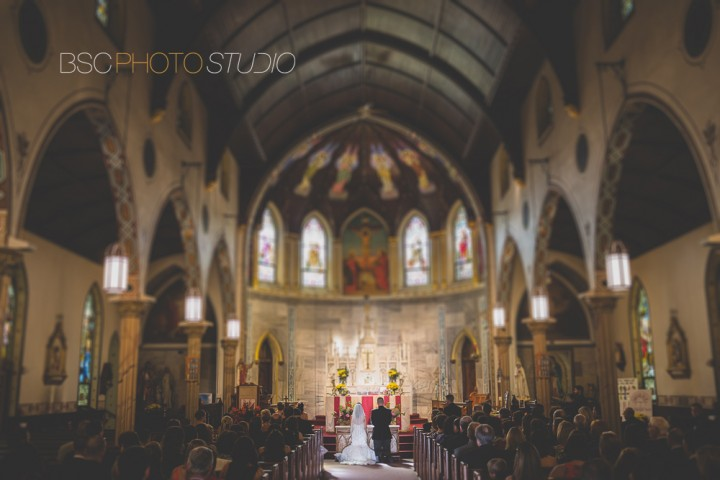 beautiful church wedding ceremony documentary photography