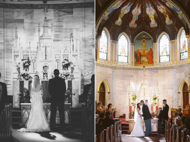 beautiful wedding church ceremony photography in Connecticut