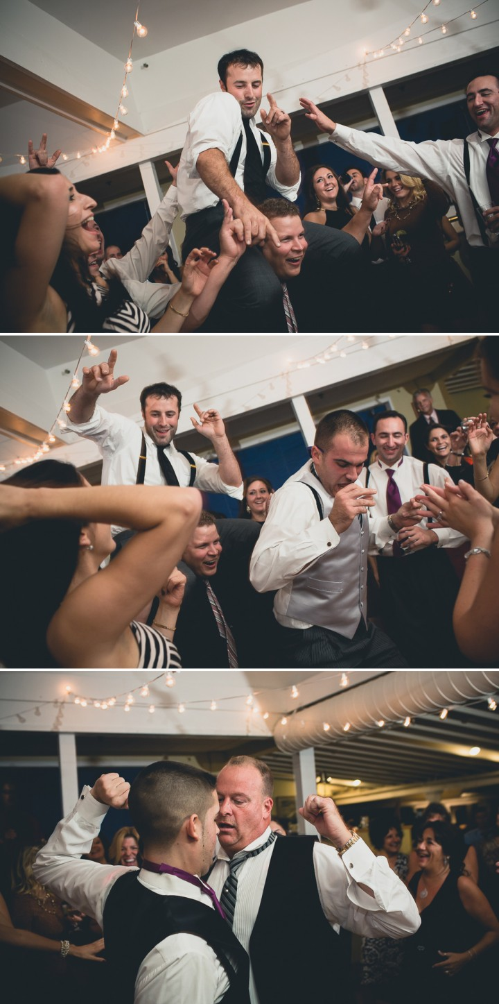 Fun wedding reception photos at Milford Yacht Club in Connecticut