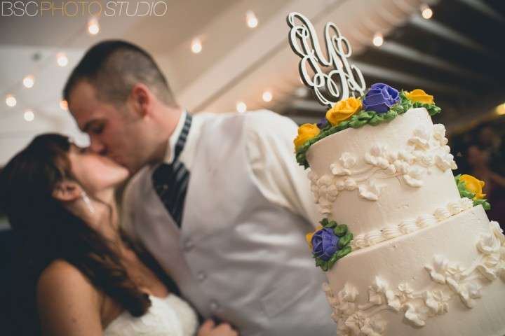 Milford Yacht Club Reception Connecticut Creative modern wedding documentary photography cake cutting